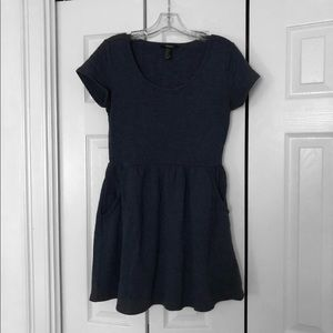 Navy Blue Forever 21 Dress (Size S)